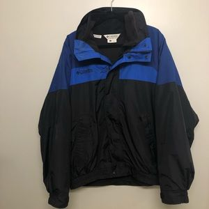 columbia bugaboo interchange jacket blue/ black